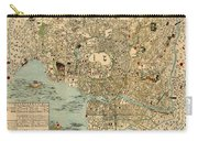 Map Of Tokyo 1854 Carry-all Pouch