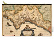 Map Of Valencia 1634 Carry-all Pouch