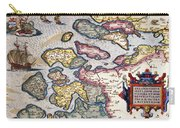Map Of Zeeland Carry-all Pouch by Abraham Ortelius
