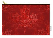 Maple Leaf Filigree Pattern Carry-all Pouch