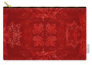 Maple Leaf Filigree Tiled Pattern Carry-all Pouch