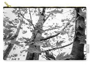 Maple Trees In Black And White Carry-all Pouch