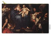 Maratti Carlo Madonna And Child Enthroned With Angels And Saints Carry-all Pouch