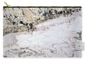 Marble Black Tan Pink Carry-all Pouch