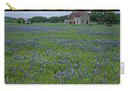 Marble Falls Texas Stone House And Bluebonnets Carry-all Pouch