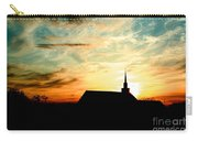 March Church Sunset  Carry-all Pouch