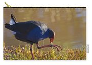 March Of The Swamphen Carry-all Pouch by Mike  Dawson