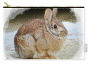 March Rabbit With Vignette Carry-all Pouch