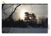 March Sunrise Behind Pines Carry-all Pouch
