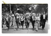 Marchers Wearing Hats Carry Puerto Rican Flags Down Constitution Avenue Carry-all Pouch