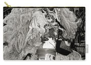 Mardi Gras Indian In Pirates Alley In Black And White Carry-all Pouch