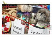 Mardi Gras Pekingese Pups Carry-all Pouch by Kathleen K Parker