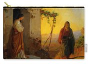 Maria Sister Of Lazarus Meets Jesus Who Is Going To Their House Carry-all Pouch
