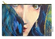 Mariah Blue Carry-all Pouch