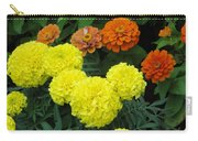 Marigold And Zinnias Carry-all Pouch