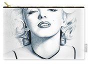 Marilyn Black And White Carry-all Pouch