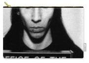 Marilyn Manson Mug Shot Vertical Carry-all Pouch