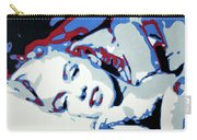 Marilyn Monroe Blue And Red Detail Carry-all Pouch