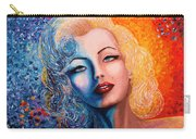 Marilyn Monroe Original Acrylic Palette Knife Painting Carry-all Pouch