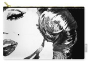 Marilyn Monroe Painting - Bombshell Black And White - By Sharon Cummings Carry-all Pouch