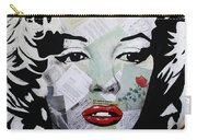 Marilyn Monroe Red Flower Carry-all Pouch
