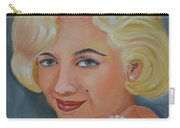 Marilyn Monroe With Pearls Carry-all Pouch