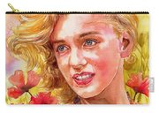 Marilyn Monroe With Poppies Carry-all Pouch