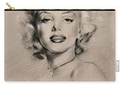 Marilyn Monroe Carry-all Pouch by Ylli Haruni