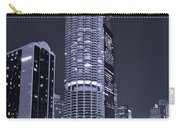 Marina City On The Chicago River In B And W Carry-all Pouch by Steve Gadomski