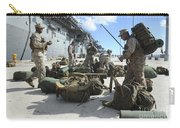 Marines Move Gear During An Embarkation Carry-all Pouch