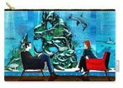 Marinelife Observing Couple Sitting In Chairs Carry-all Pouch