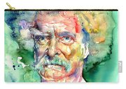Mark Twain Watercolor Carry-all Pouch