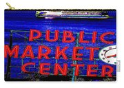 Market Clock And Ferry  Carry-all Pouch