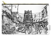 Market Place - Urban Life Outside Temple India Carry-all Pouch