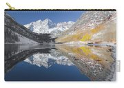 Maroon Bells Mirror Carry-all Pouch by Jemmy Archer