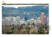 Marquam Bridge By Portland City Skyline Panorama Carry-all Pouch