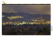 Marquam Hill And Portland Bridges At Night Carry-all Pouch