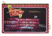 Marquee Motel 1960's Wildwood, Nj, Copyright Aladdin Color Inc. Carry-all Pouch