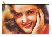 Martha Vickers, Vintage Hollywood Actress Carry-all Pouch