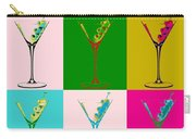 Martini Pop Art Panels Carry-all Pouch