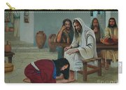 Mary Anoints The Feet Of Jesus Carry-all Pouch