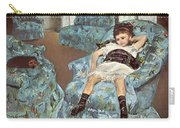 Mary Cassatt-little Girl In A Blue Armchair1878 Po Amp 059 Mary Cassatt Carry-all Pouch