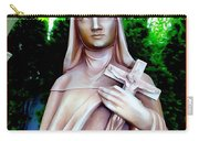 Mary With Cross Carry-all Pouch
