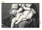 Mary With The Child Jesus Carry-all Pouch
