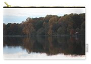Maryland Autumns - Lake Elkhorn - Red Roof Carry-all Pouch