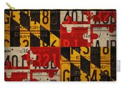 Maryland State Flag Recycled Vintage License Plate Art Carry-all Pouch