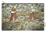 masonry Locked windows on the stone wall Carry-all Pouch