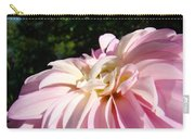 Master Gardener Pink Dahlia Flower Garden Art Prints Canvas Baslee Troutman Carry-all Pouch