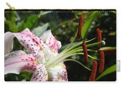 Master Gardeners Art Floral Pink Lily Flower Baslee Troutman Carry-all Pouch