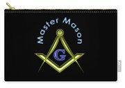 Master Mason In Black Carry-all Pouch